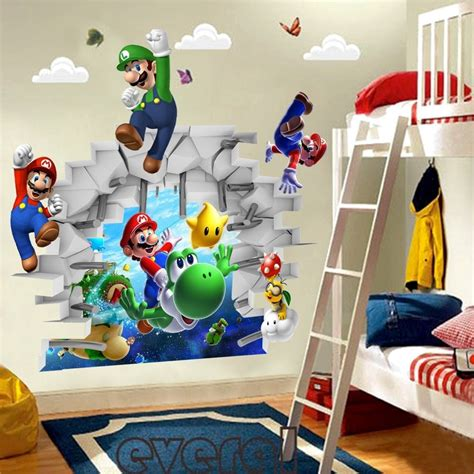 Mario Brothers Wall Stickers 3d super mario wall sticker