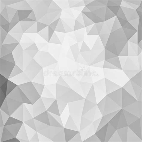White Low Poly gray and white low poly background design with triangle