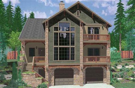plan lb hillside retreat craftsman house plans