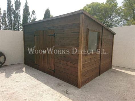 pent roof shed  double doors altea