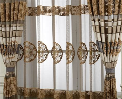 brown and white striped curtains translucent sheer bule brown and white stripe curtains for