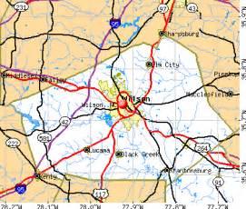 wilson carolina map map