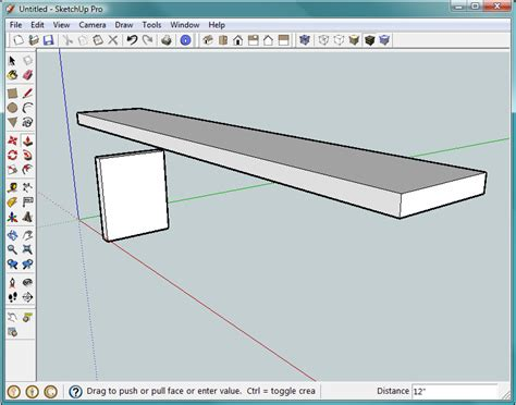 sketchup layout feet and inches 1 building a bench your first sketchup model google