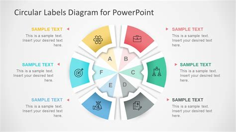 circular diagrams powerpoint templates circular labels six steps powerpoint diagram slidemodel