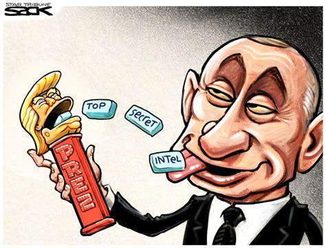 trump cartoon drawn to the news trump shares classified information