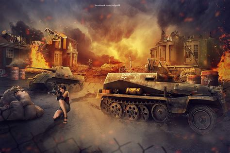 pattern photoshop war destroyed land photoshop manipulation speedart by rafy a