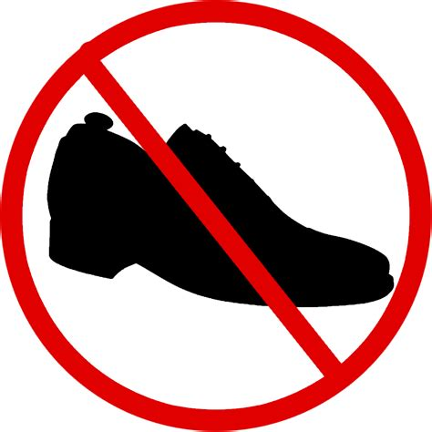 with no shoes no shoes sign clipart best