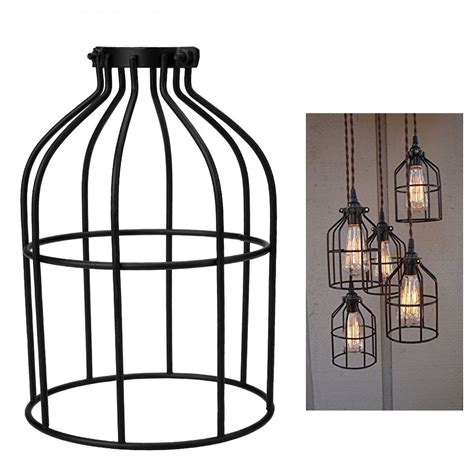 wire cage pendant light lighting hanging guard for pendant string light l