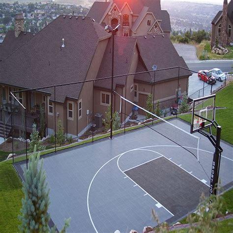 backyard court surfaces best 25 backyard basketball court ideas on pinterest