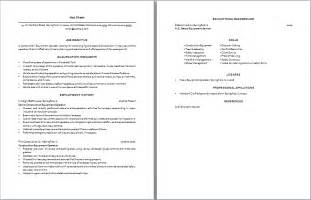 Resume Grader by Construction Equipment Operator Resume Sample Two Pages