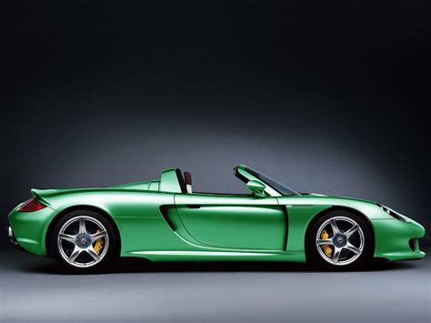 Exotic Car Pictures   Green Porsche Carrera GT
