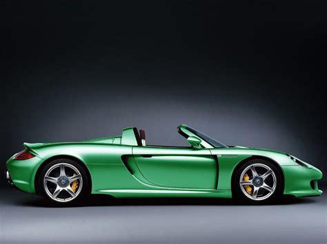 Exotic Car Pictures   Green Porsche Carrera GT