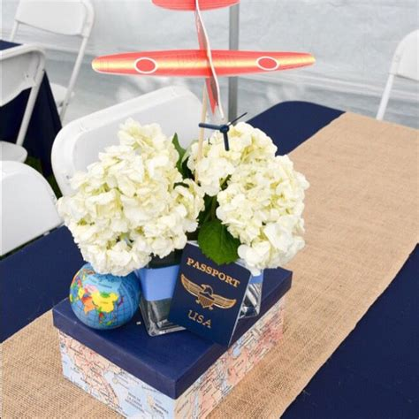 vintage centerpieces for baby shower best 25 vintage airplane theme ideas on