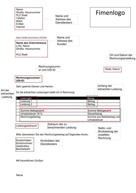 Muster Begleitschreiben Rechnung Rechnung Schreiben Vorlage Rechnungsvorlage Mit