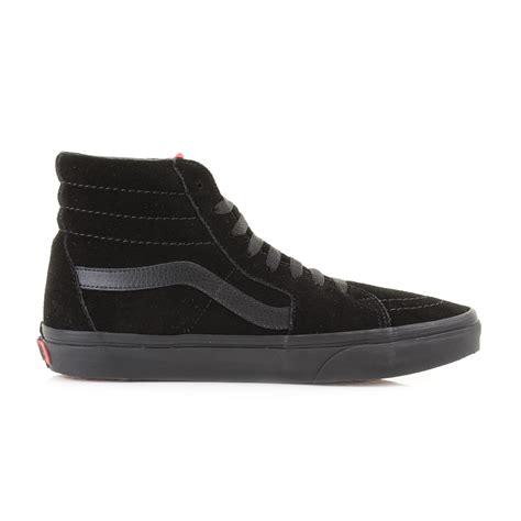 Vans Sk8 Best Seller mens vans sk8 hi black black suede casual leather high top trainers shu size ebay