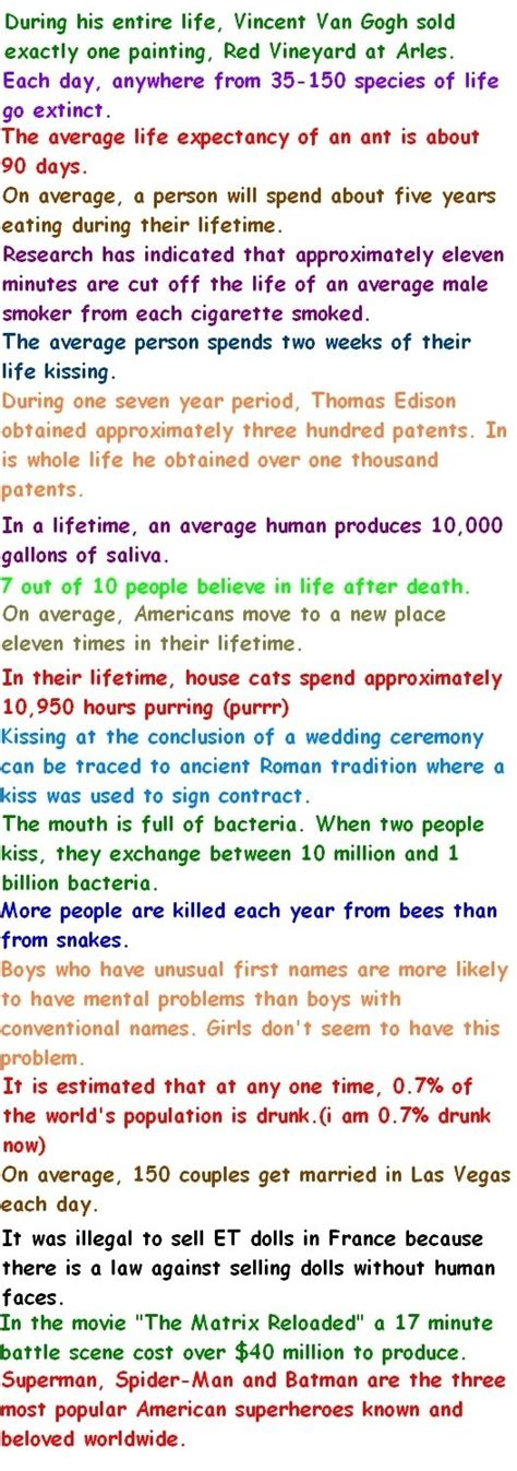 good biography facts funny facts about life lovely good to know pinterest