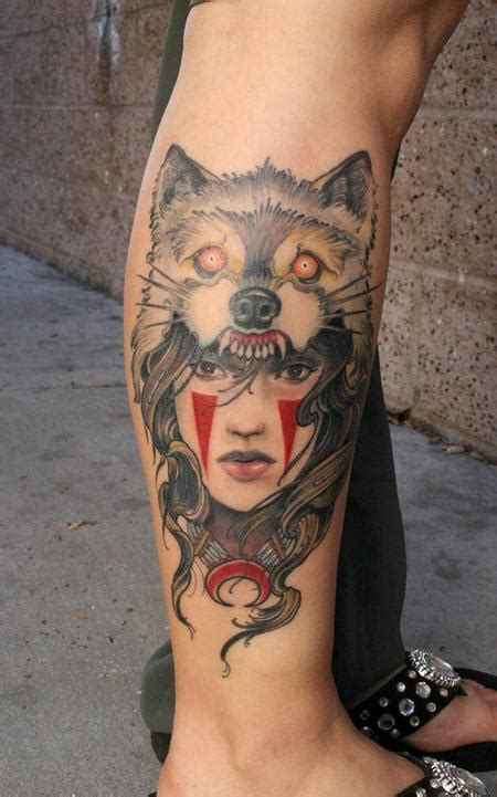 animal headdress tattoo wolf girl ink tattoos pinterest headdress fan