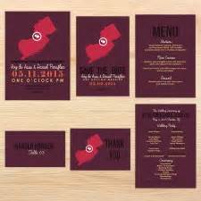 Wedding Invitations New Jersey by State Wedding Invitations New Jersey Invitations By R2