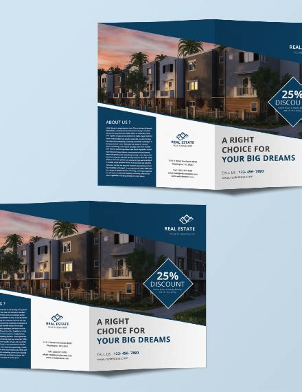 Free Commercial Real Estate Brochure Template Download 263 Brochures In Psd Illustrator Word Real Estate Brochure Template Free