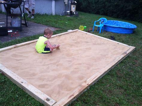 Sandbox Ideas Backyard Home Made Sandbox 8 2x6 Or 2x8 Pieces Of Pressure Treated Wood We Made Our Sandbox 6x10 Set