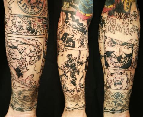 comic tattoos amazing comic book photo gallery tattooku what