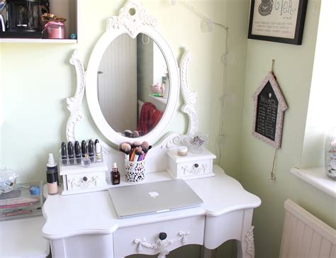 at home my dressing table little red