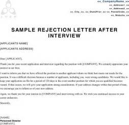 Rejection Letter Professional The Sle Rejection Letter After Can Help You Make A Professional And Document