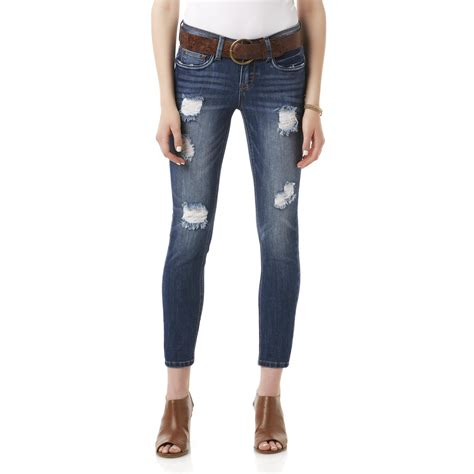 doll house jeans dollhouse women s belted skinny jeans
