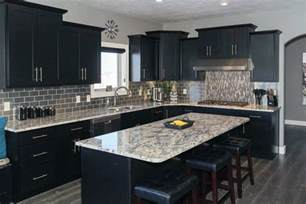 Images Of Kitchens With Black Cabinets Beautiful Black Kitchen Cabinets Design Ideas