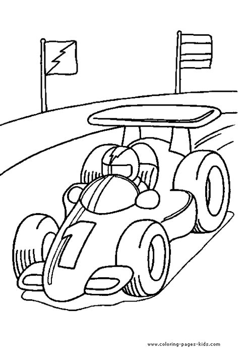 coloring page race cars race car driving color page ras pinterest coloring