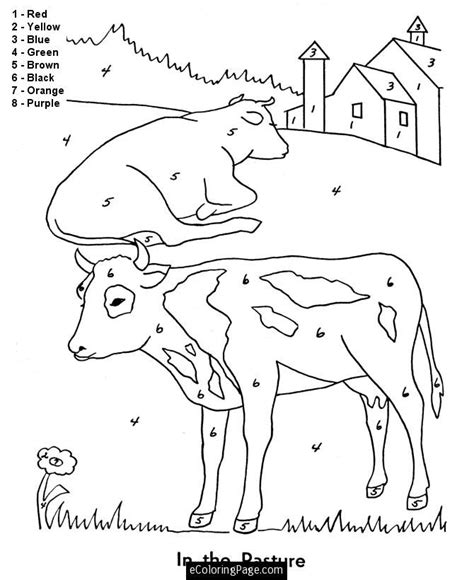 color by number animal coloring pages farm animal coloring pages for kids az coloring pages