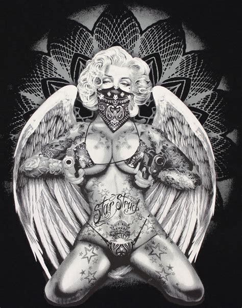 marilyn monroe starstruck tattoo bandana fallen angel pin
