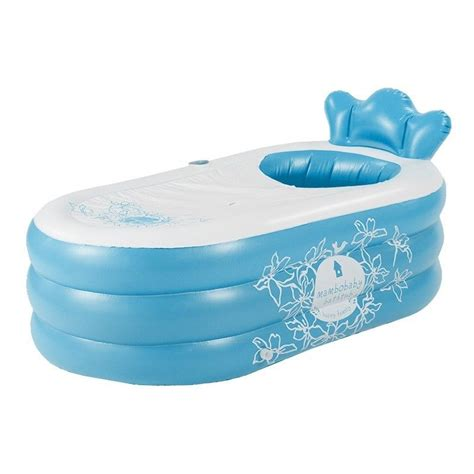 bathtub spa portable blue inflatable portable spa bath tub ebay