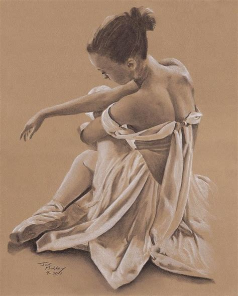 Sitting Ballerina Traditional Artwork other metro by East Ave Art