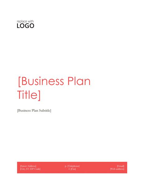 business plan templates microsoft free business template