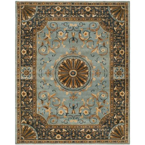 the nile rug safavieh empire blue 8 ft 3 in x 11 ft area rug em459c 9 the home depot