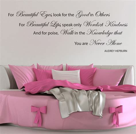 hepburn wall stickers quotes beautiful eye decals