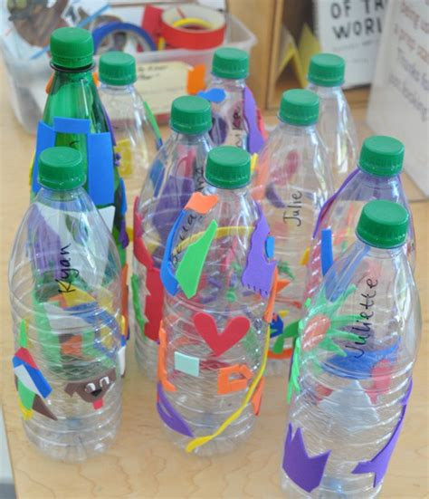 water bottle crafts projects water bottle prints carle museum