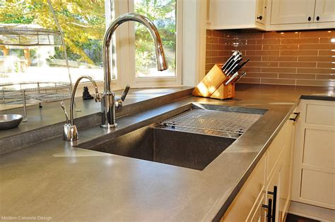 almunium polished concrete countertops interior