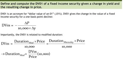 Credit Risk Expected Loss Formula Kthwow Dv01 Quot Dollar Value Of An 01 0 01 Quot