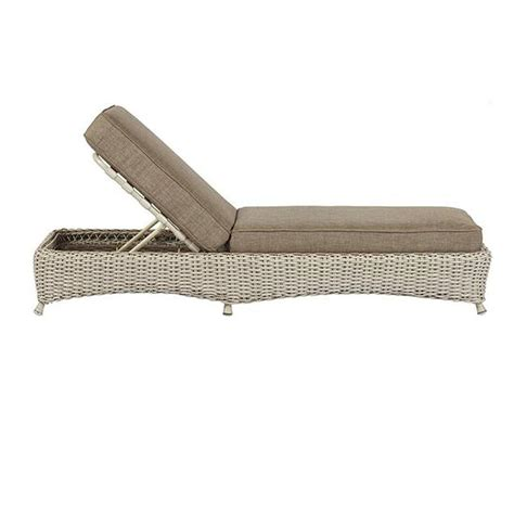 Martha Stewart Living Lake Adela Bone Patio Chaise Lounge