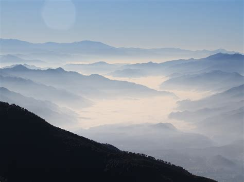 wallpaper fog himalayas mountains misty hd nature