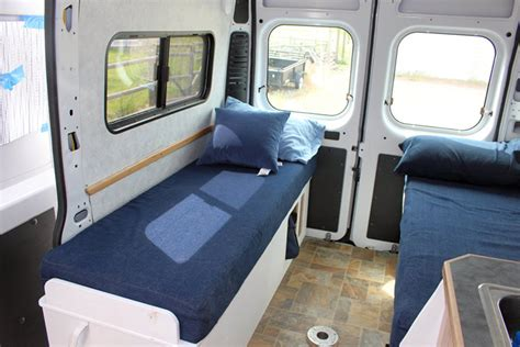 van with bed detailed walkthrough of converting a cargo van