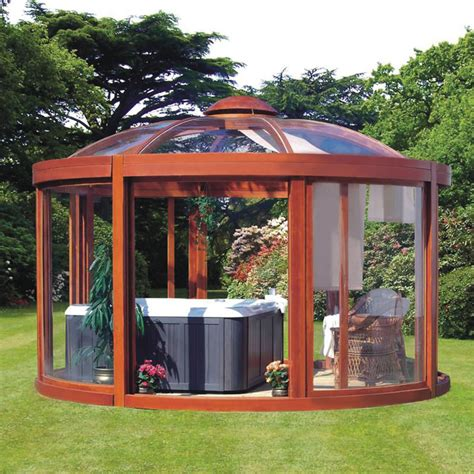 gazebo for backyard the scandinavian backyard gazebo hammacher schlemmer