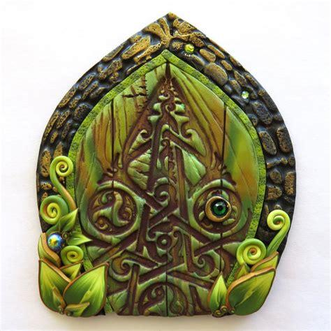Celtic Garden Decor Celtic Door Miniature Garden Decor Polymer Clay