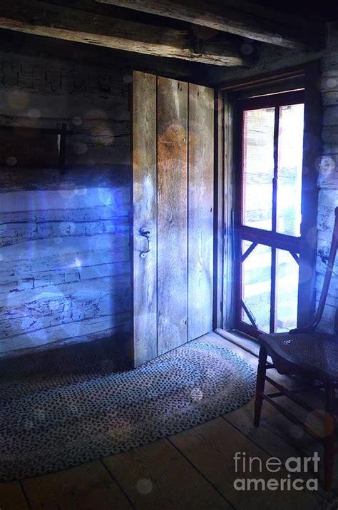open cabin open cabin door with orbs photograph by battaglia