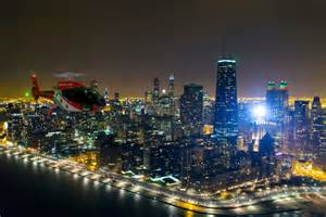 midwest city lights chicago helicopter experience view city lights by air