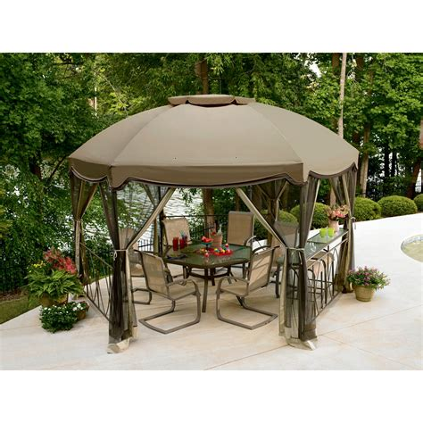 Hexagon Gazebo Garden Oasis Grandview Hexagon Gazebo With Netting Shop