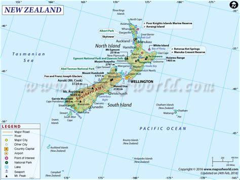 map of new area new zealand map
