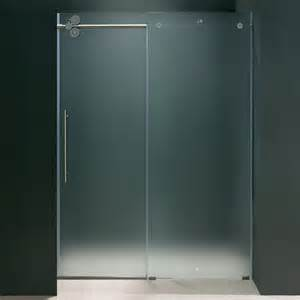frosted glass shower doors frameless glass vigo 60 inch frameless frosted glass